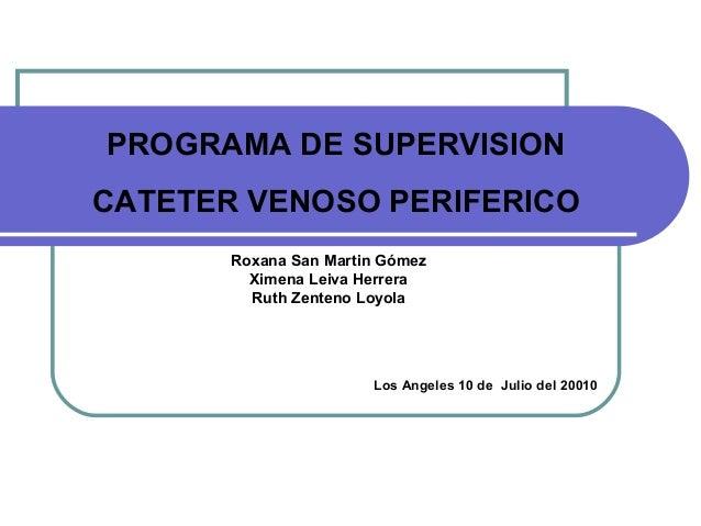 Programa de supervision IIH.