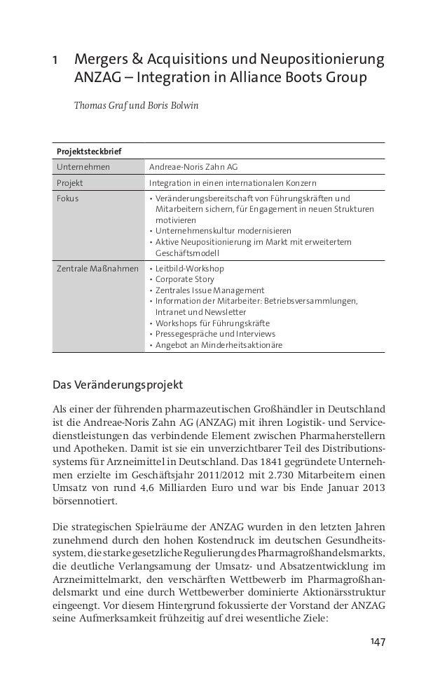 """JP│KOM: Neuauflage """"Veränderungskommunikation"""": ANZAG – Integration in Alliance Boots Group"""