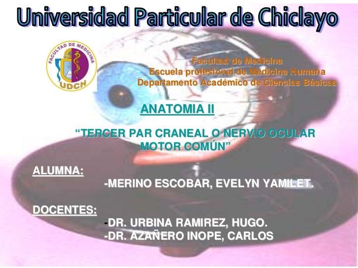 Facultad de Medicina                     Escuela profesional de Medicina Humana                   Departamento Académico d...