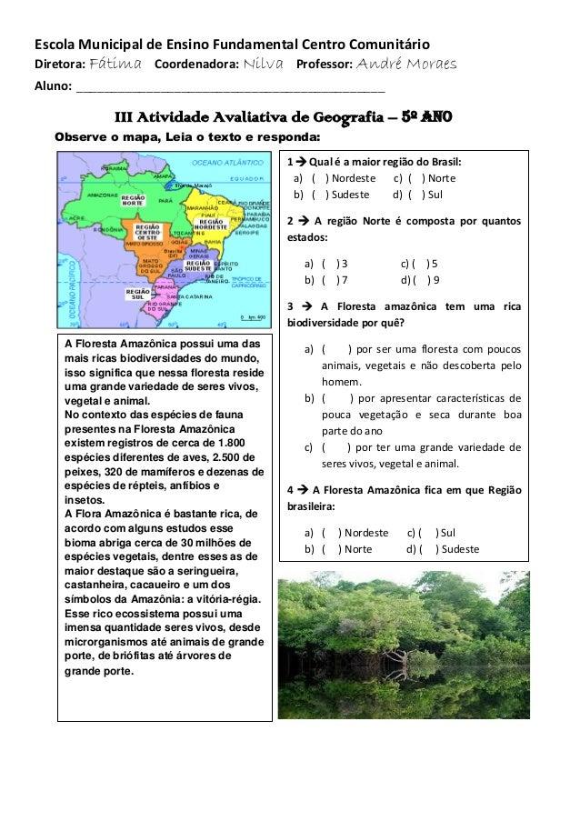 Geografia 5 Ano Regioes Brasileiras Geografia – 5º Ano Observe