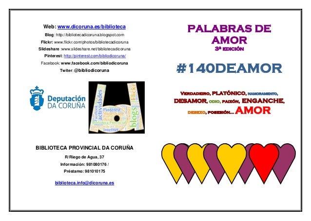 3ª edición concurso palabras de amor. Biblioteca Provincial da Coruña