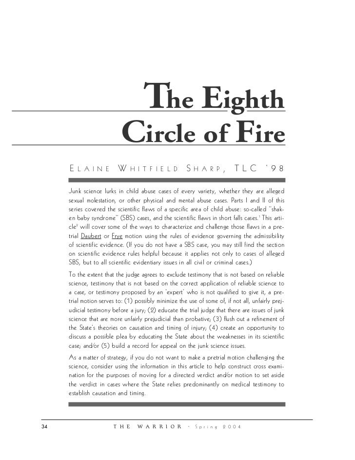 Iii Eighth Circleof Fire Law Review On Sbs
