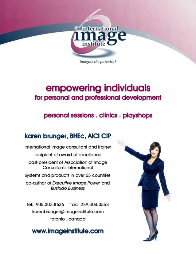 Holistic Image Consulting Services on Appearance, Behaviour and Communication