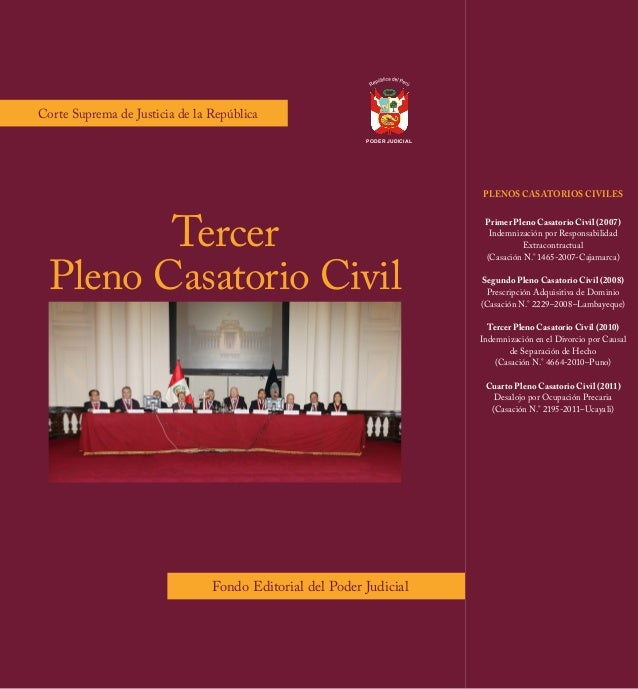 PODER JUDICIAL  Corte Suprema de Justicia de la República  Corte Suprema de Justicia de la República  Tercer Pleno Casator...