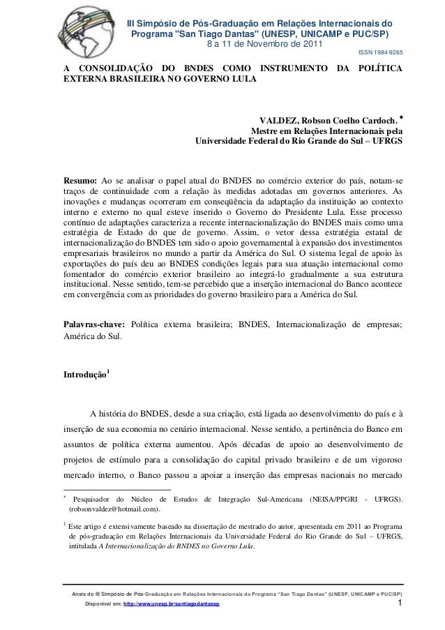 """III Simpósio de Pós-Graduação em Relações Internacionais do Programa """"San Tiago Dantas"""" (UNESP, UNICAMP e PUC/SP) 8 a 11 d..."""