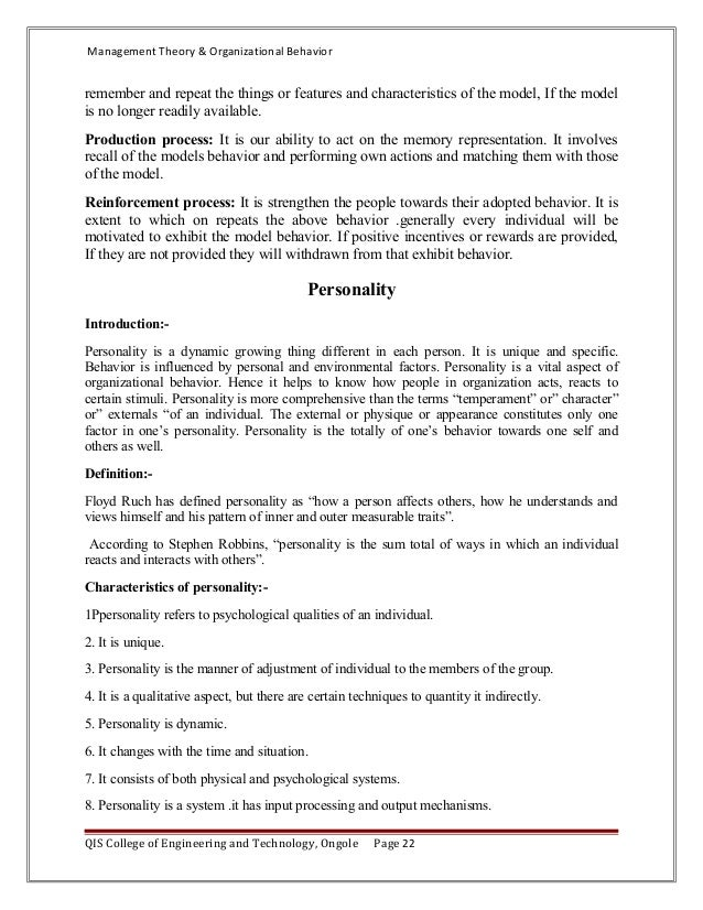 understanding human behaviour essay Organizational behavior and management thinking  and human re- sources of their  cannot understand behavior without understanding the thoughts, as.