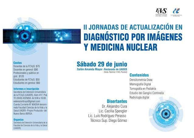 Ii jornadas  diagnostico por imagenes  medicina nuclear