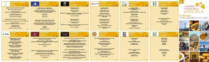 II Jornadas Gastronomicas en Es Mercadal