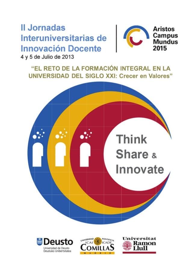 II Jornadas Interuniversitarias de Innovación Docente 2013