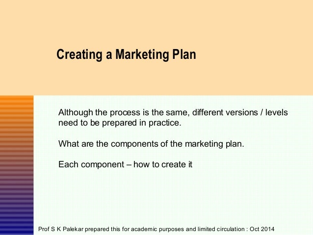 Creating Marketing Plan Template Creating a Marketing Plan