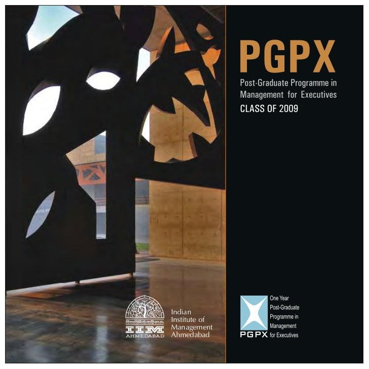 IIMA PGPX 0809 Placement Brochure