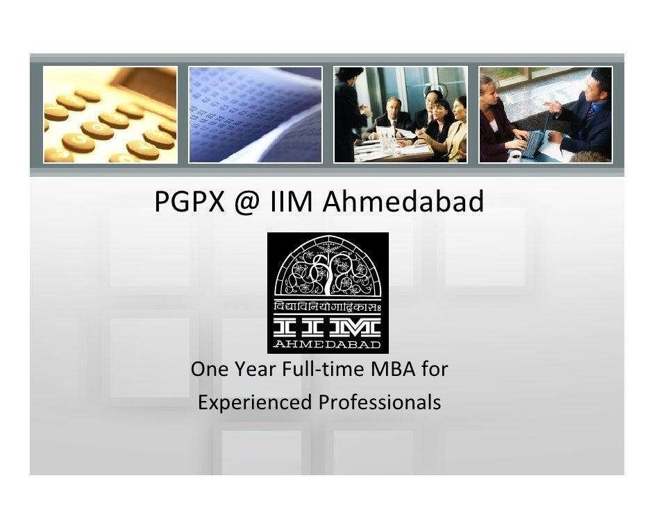 IIM Ahmedabad PGPX Introduction
