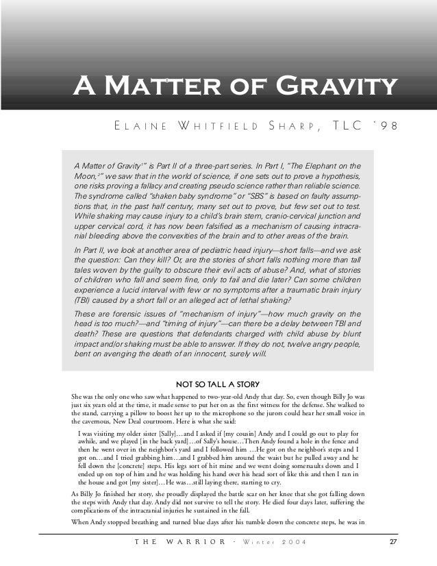 Ii matter ofgravity law review on sbs
