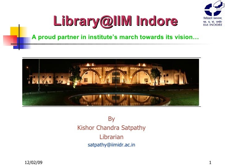 IIM Indore Library at a Glance