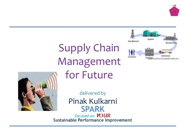delivered byPinak KulkarniSPARKfocused on YOURSustainable Performance ImprovementSupply ChainManagementfor Future