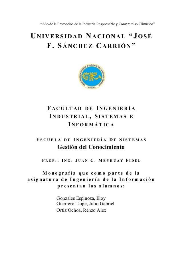 """""""Año de la Promoción de la Industria Responsable y Compromiso Climático""""  UNIVERS IDAD NACIONAL """"JOSÉ  F. SÁNCHEZ CARRIÓN""""..."""