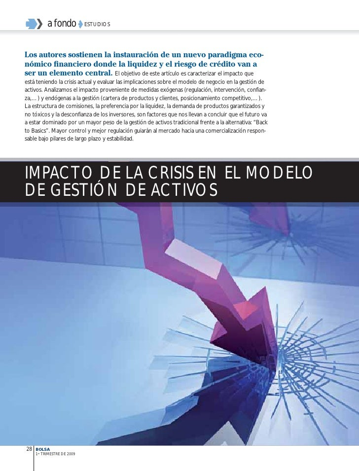 Impacto de la crisis en el modelo de gestión de activos