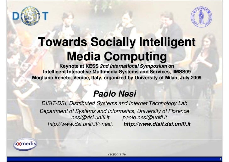 Towards Socially Intelligent Media Computing