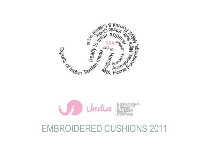 EMBROIDERED CUSHIONS 2011