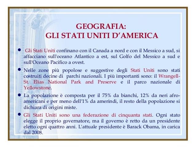 Gli Stati Uniti Geografia Geografia Gli Stati Uniti