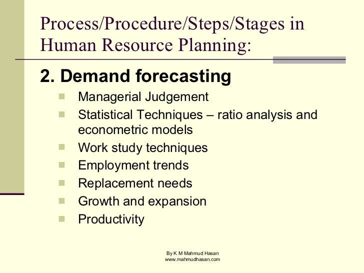 manpower planning thesis