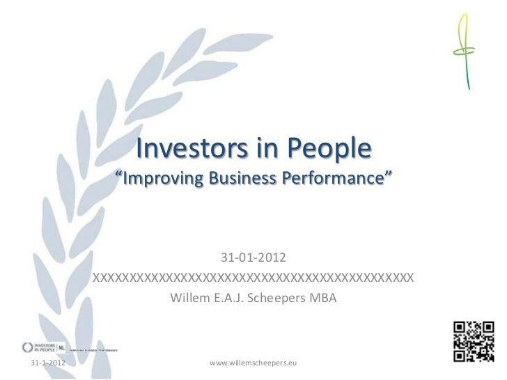 Investors in People presentatie 310112