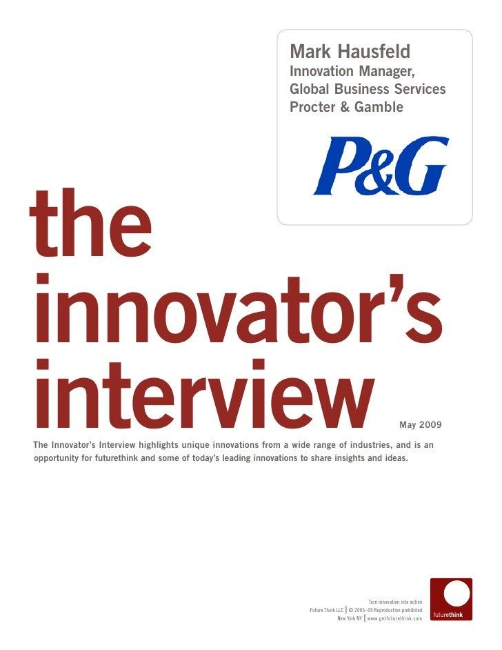 Mark Hausfeld                                                               Innovation Manager,                           ...