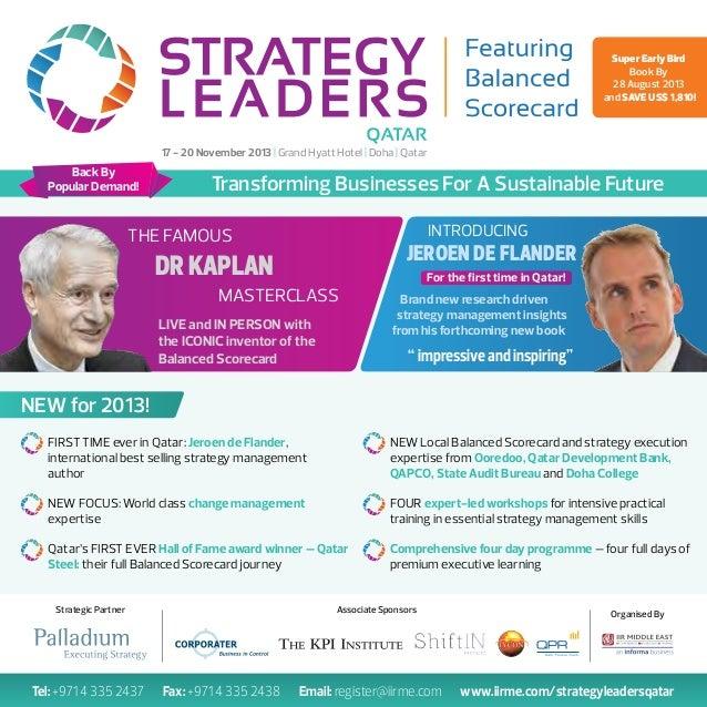 Strategy leaders: Prof. Robert Kaplan and Jeroen De Flander