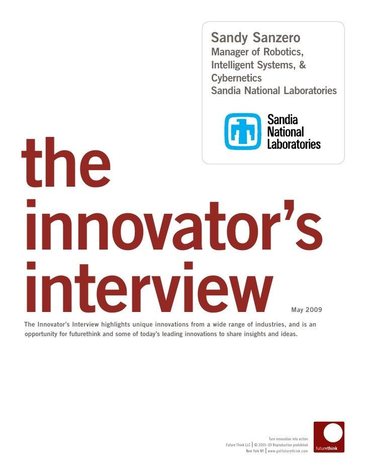 Sandy Sanzero                                                               Manager of Robotics,                          ...