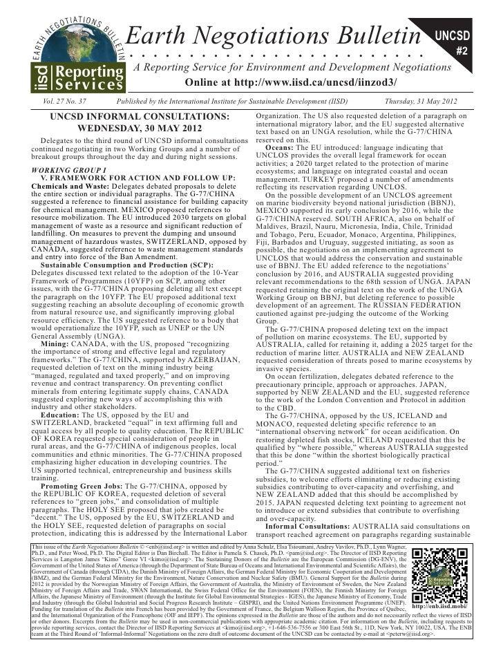 IISD Earth Negotiations Bulletin 30 May