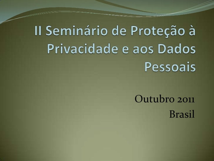 Outubro 2011      Brasil