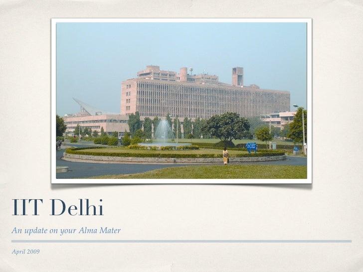 IIT Delhi Presentation for Alumni