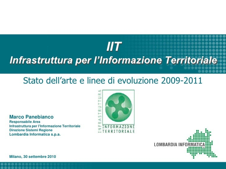 Region Lombardy Spatial Data Infrastructure: state-of-the-art