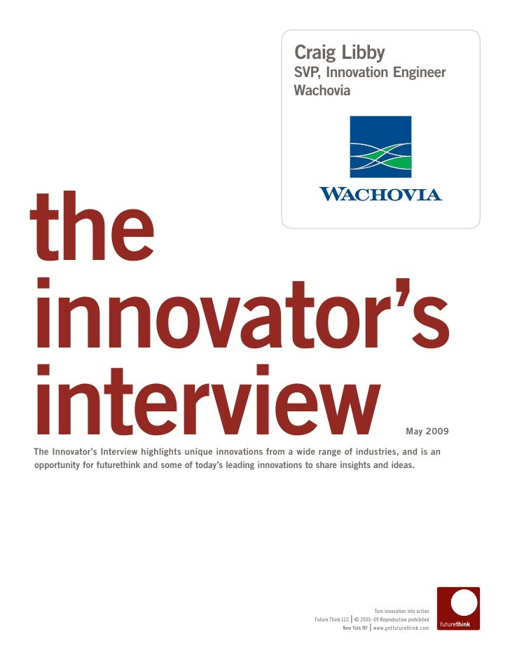 Interview with Craig Libby, Innovation Thought Leader