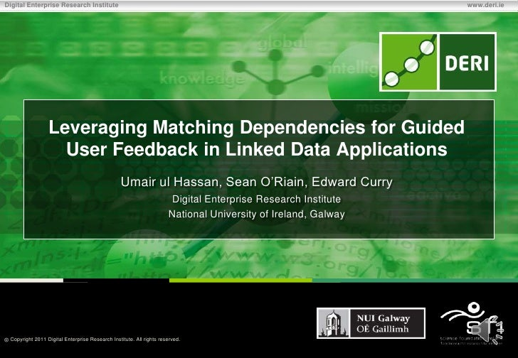 Leveraging Matching Dependencies for Guided User Feedback in Linked Data Applications