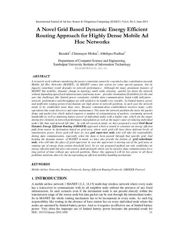 International Journal of Ad hoc, Sensor & Ubiquitous Computing (IJASUC) Vol.4, No.3, June 2013 DOI : 10.5121/ijasuc.2013.4...