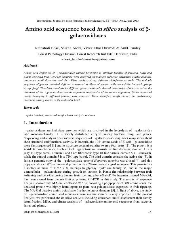 International Journal on Bioinformatics & Biosciences (IJBB) Vol.3, No.2, June 2013 DOI: 10.5121/ijbb.2013.3204 37 Amino a...