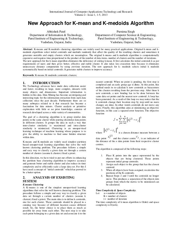International Journal of Computer Applications Technology anNew Approach forAbhishek PatelDepartment of Information & Tech...
