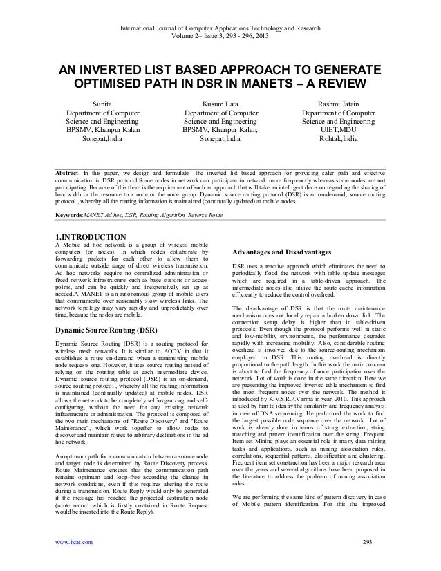 International Journal of Computer Applications Technology and ResearchVolume 2– Issue 3, 293 - 296, 2013www.ijcat.com 293A...