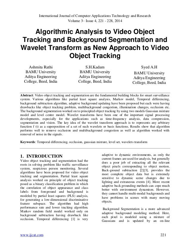 International Journal of Computer Applications Technology and Research Volume 3– Issue 4, 221 - 228, 2014 www.ijcat.com 22...