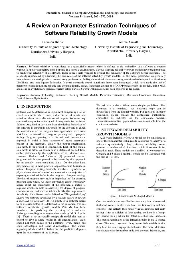 A Review on Parameter Estimation Techniques of Software Reliability Growth Models