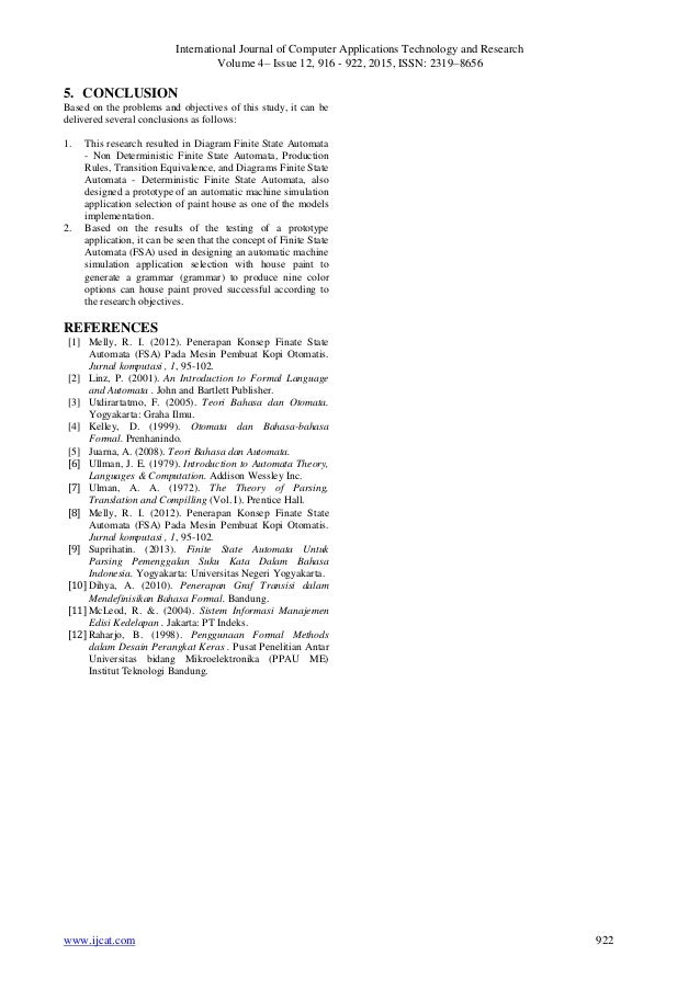 Application Of Finite Automata In Toc