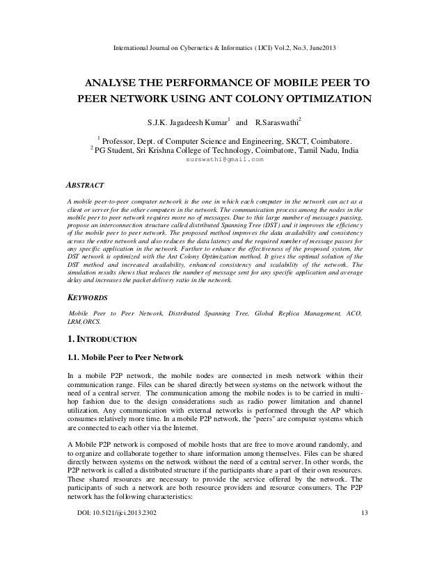 International Journal on Cybernetics & Informatics ( IJCI) Vol.2, No.3, June2013 DOI: 10.5121/ijci.2013.2302 13 ANALYSE TH...