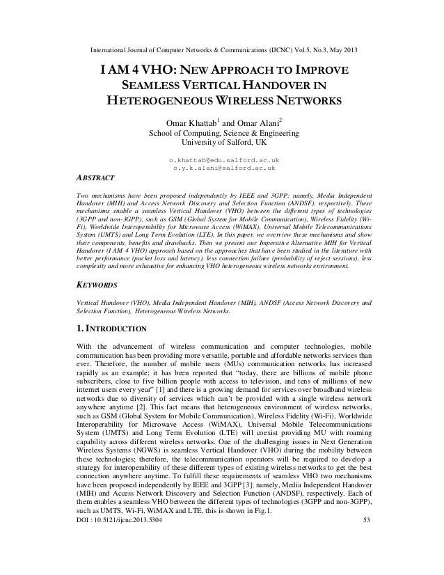 I AM 4 VHO: New Approach to improve Seamless Vertical Handover in Heterogeneous Wireless Networks