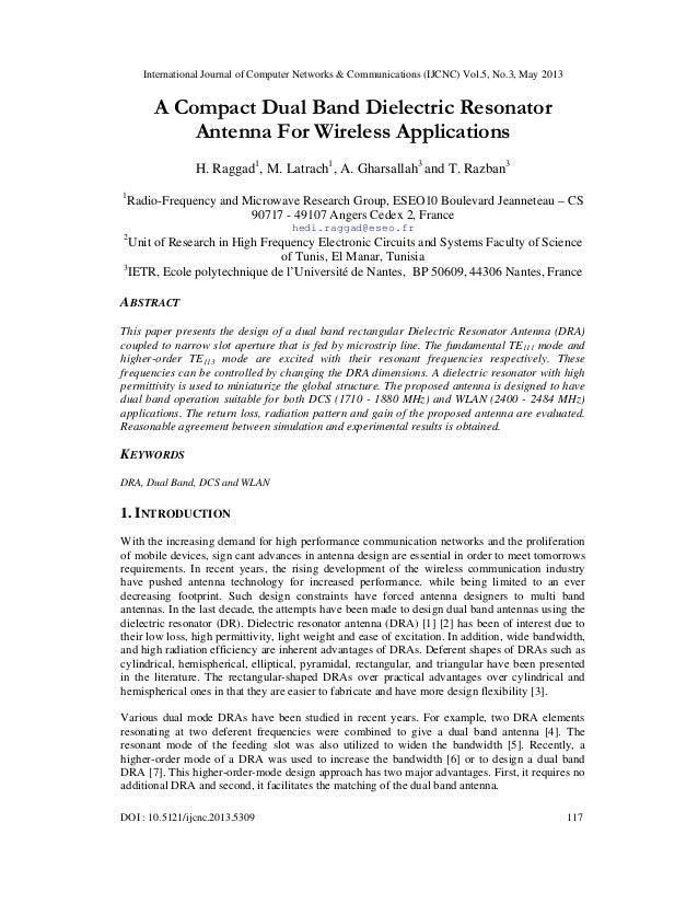 International Journal of Computer Networks & Communications (IJCNC) Vol.5, No.3, May 2013DOI : 10.5121/ijcnc.2013.5309 117...