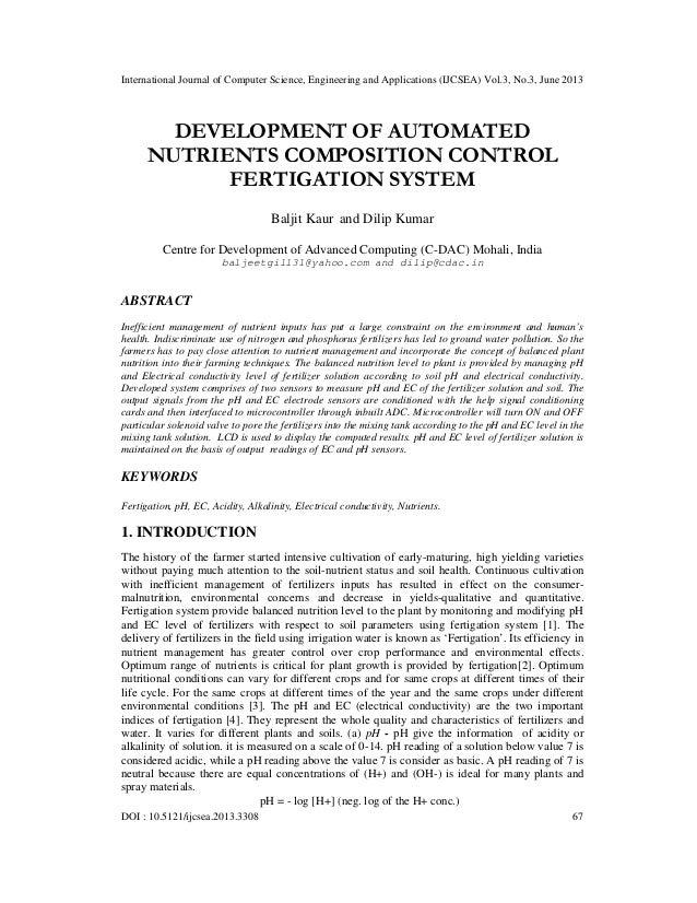 Development of automated nutrients composition control fertigation system