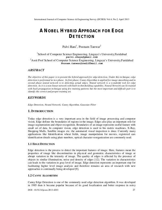 International Journal of Computer Science & Engineering Survey (IJCSES) Vol.4, No.2, April 2013DOI : 10.5121/ijcses.2013.4...