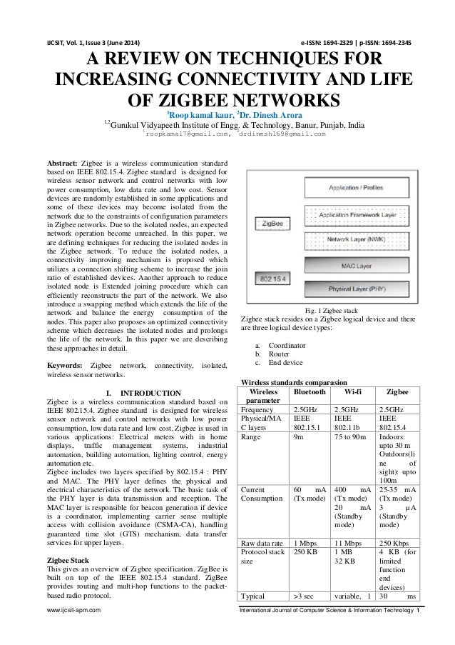 www.ijcsit-apm.com International Journal of Computer Science & Information Technology 1 IJCSIT, Vol. 1, Issue 3 (June 2014...
