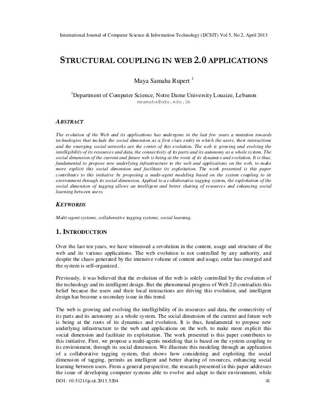 STRUCTURAL COUPLING IN WEB 2.0 APPLICATIONS