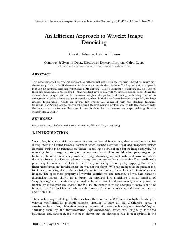 International Journal of Computer Science & Information Technology (IJCSIT) Vol 5, No 3, June 2013 DOI : 10.5121/ijcsit.20...